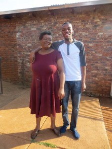 April2014 - Bongani and mother