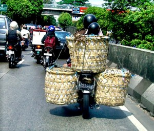 Motorcycles baskets