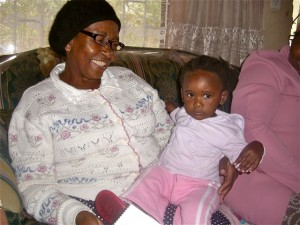Oct 2009 - Sis Nzama and grandchild who never smiles