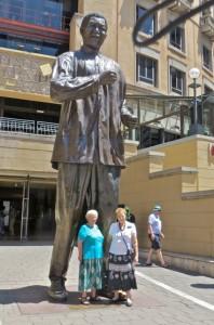 feb15 - Mandela Square - Mary, Taylor Statue