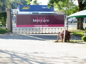 15June15 -Kruger Trip - Mercure Hotel Sign