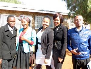Church 6/21/15 - Menzi, Lebo, Kea, Meisie, Adam